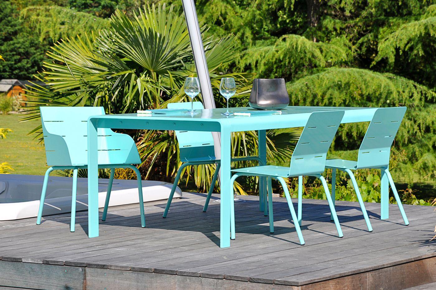 chaise jardin aluminium design pour espace terrasse