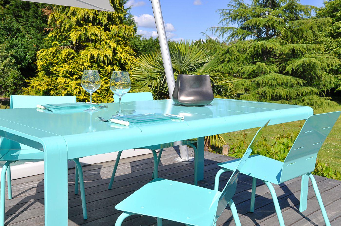 chaise jardin aluminium design pour déjeuner