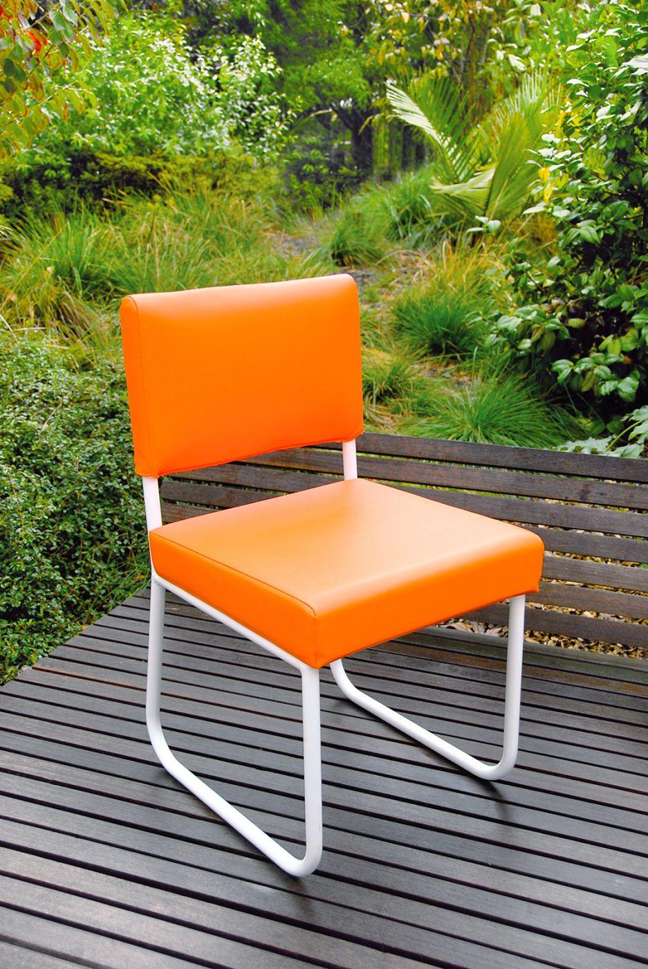 Chaise de jardin de couleur design aluminium PURE Art'Mely Piks