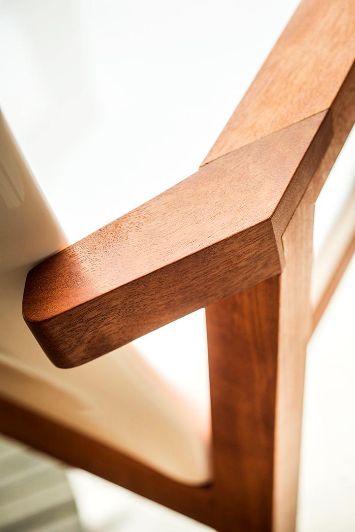 fauteuil jardin design en bois pour terrasse