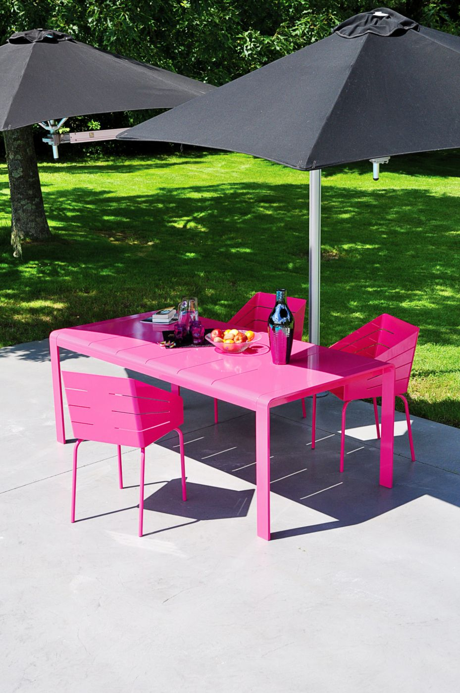 Table de jardin aluminium design BIRD Art'Mely Elodie Alain