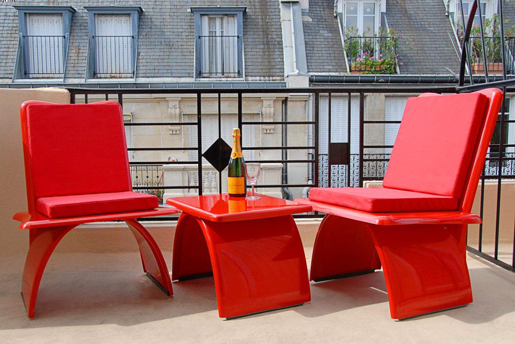 fauteuil salon de jardin design pour espace detente