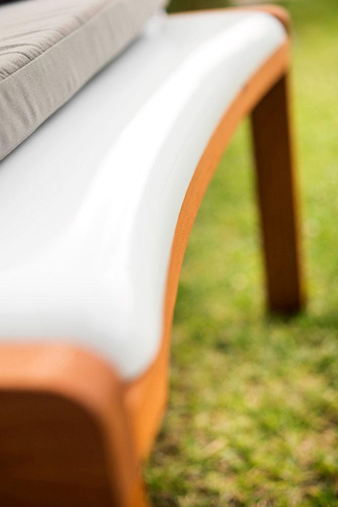 bain de soleil luxe en bois et polyester